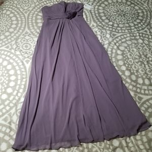 Bill Lekoff Plum Purple Size 12 Sweetheart Dress